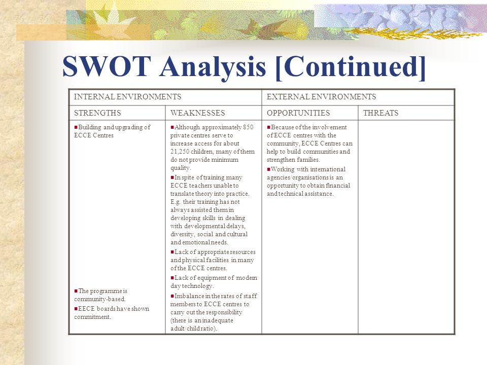 ebay and their external environments from a swot analysis perspective Using the tows matrix  swot analysis tows and swot are acronyms for different arrangements of the words strengths,  by analyzing the external environment.